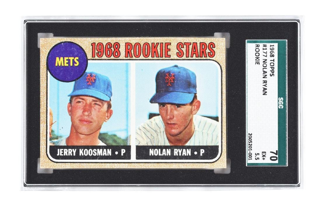 1968 Topps No. 177 Nolan Ryan Rookie Card.