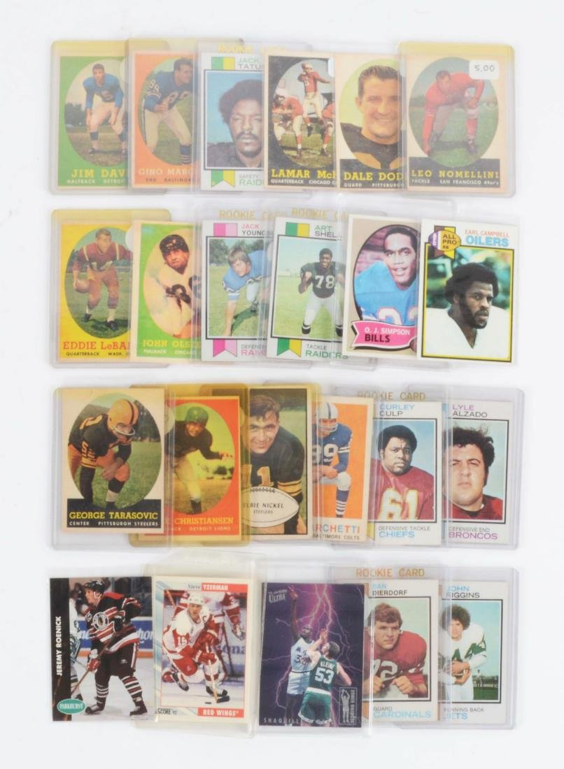 Large Lot of Vintage to Contemporary Football, - 2