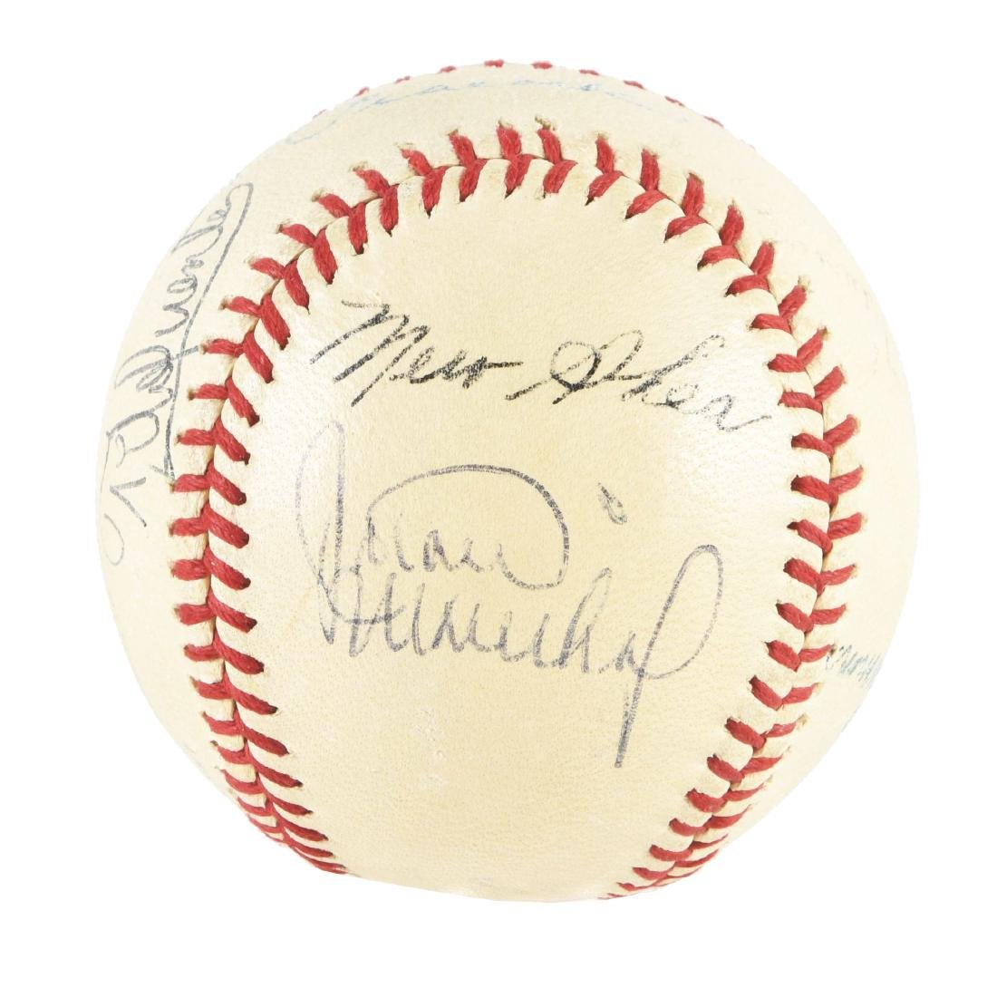 Interesting Jimmie Foxx & Others Signed Baseball In