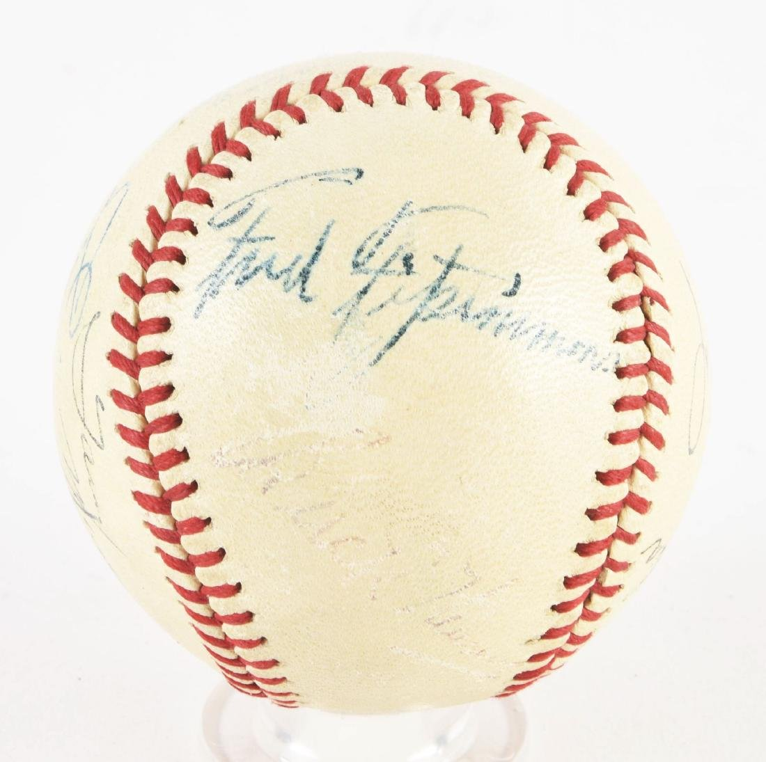Interesting Jimmie Foxx & Others Signed Baseball In - 2