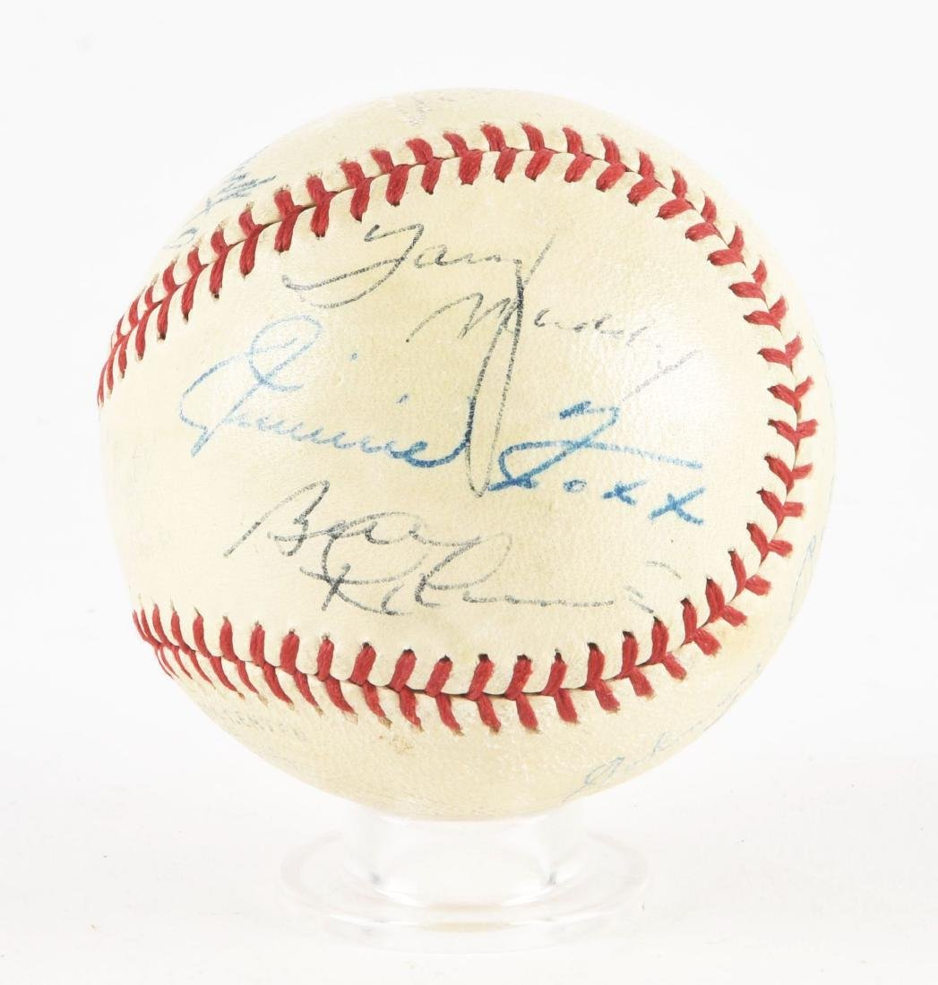 Interesting Jimmie Foxx & Others Signed Baseball In - 4
