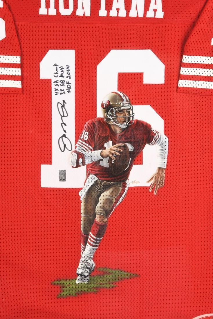Autographed NFL Joe Montana 49ers No. 16 Jersey. - 2