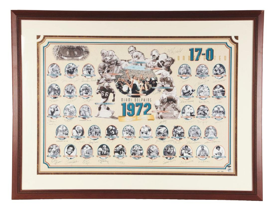 Miami Dolphins Undefeated Season Autographed Collage