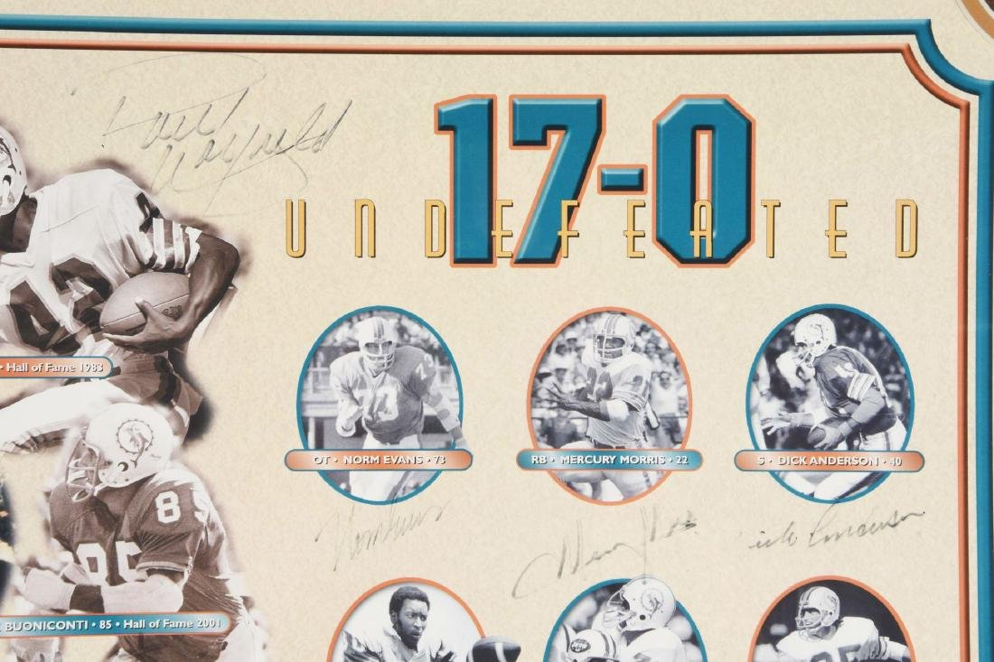 Miami Dolphins Undefeated Season Autographed Collage - 2