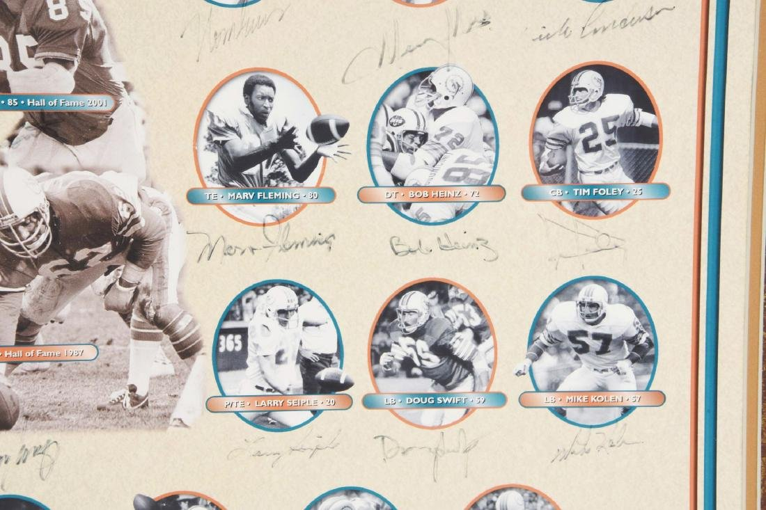 Miami Dolphins Undefeated Season Autographed Collage - 3