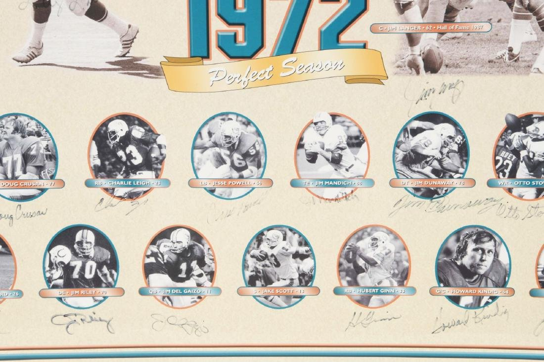 Miami Dolphins Undefeated Season Autographed Collage - 5