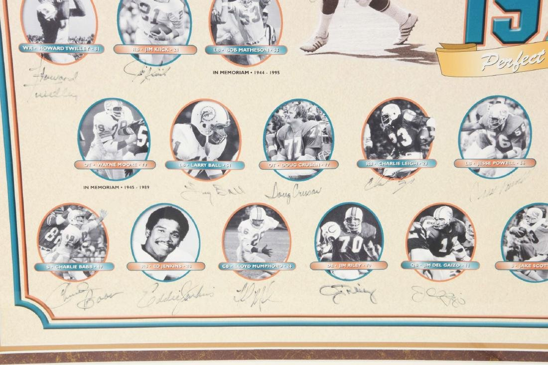 Miami Dolphins Undefeated Season Autographed Collage - 7