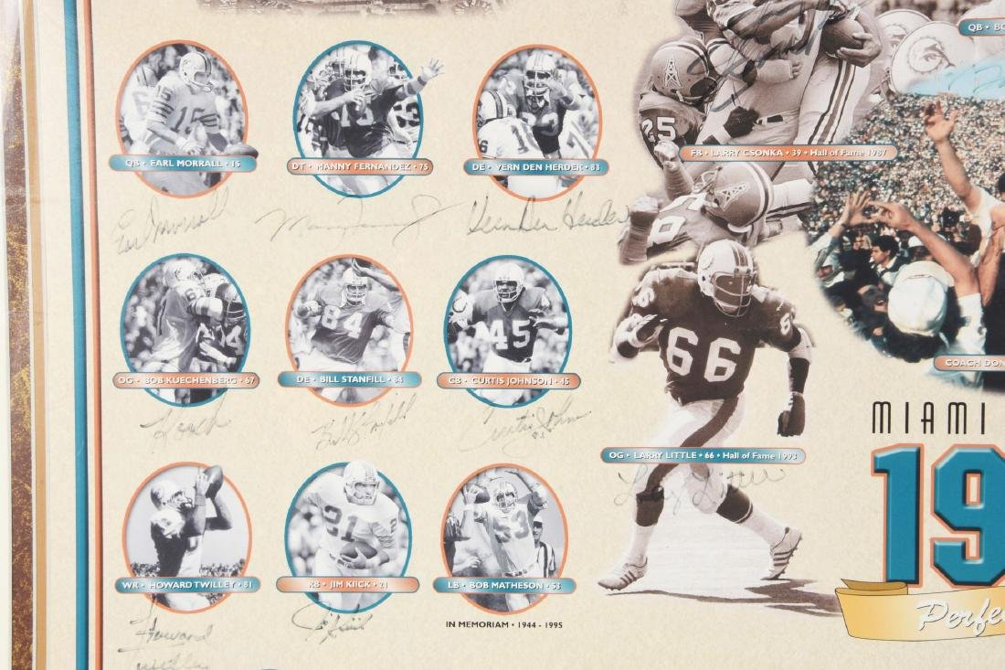 Miami Dolphins Undefeated Season Autographed Collage - 8