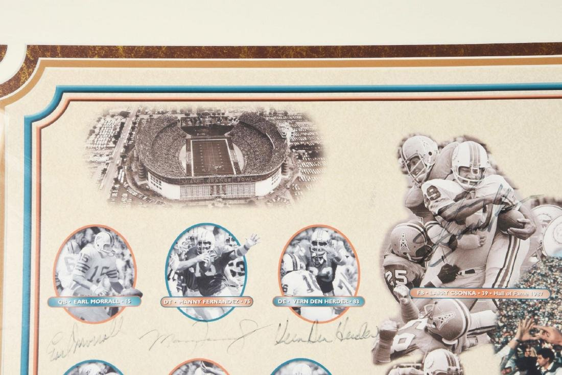 Miami Dolphins Undefeated Season Autographed Collage - 9