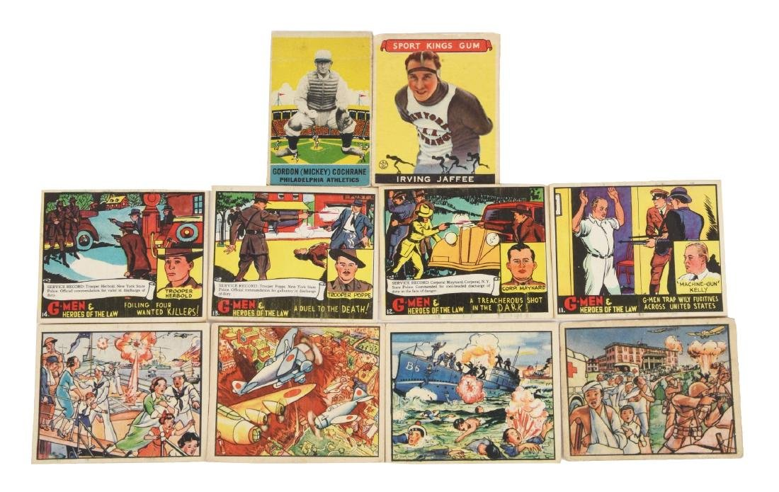 Lot of About 400: Vintage Goudey Horrors Of War, G Men