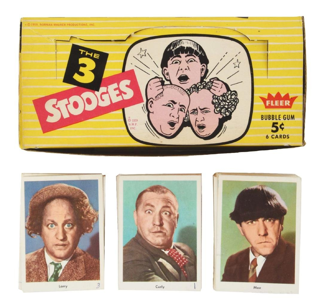 "1959 Fleer ""The 3 Stooges"" Wax Box & Card Set."