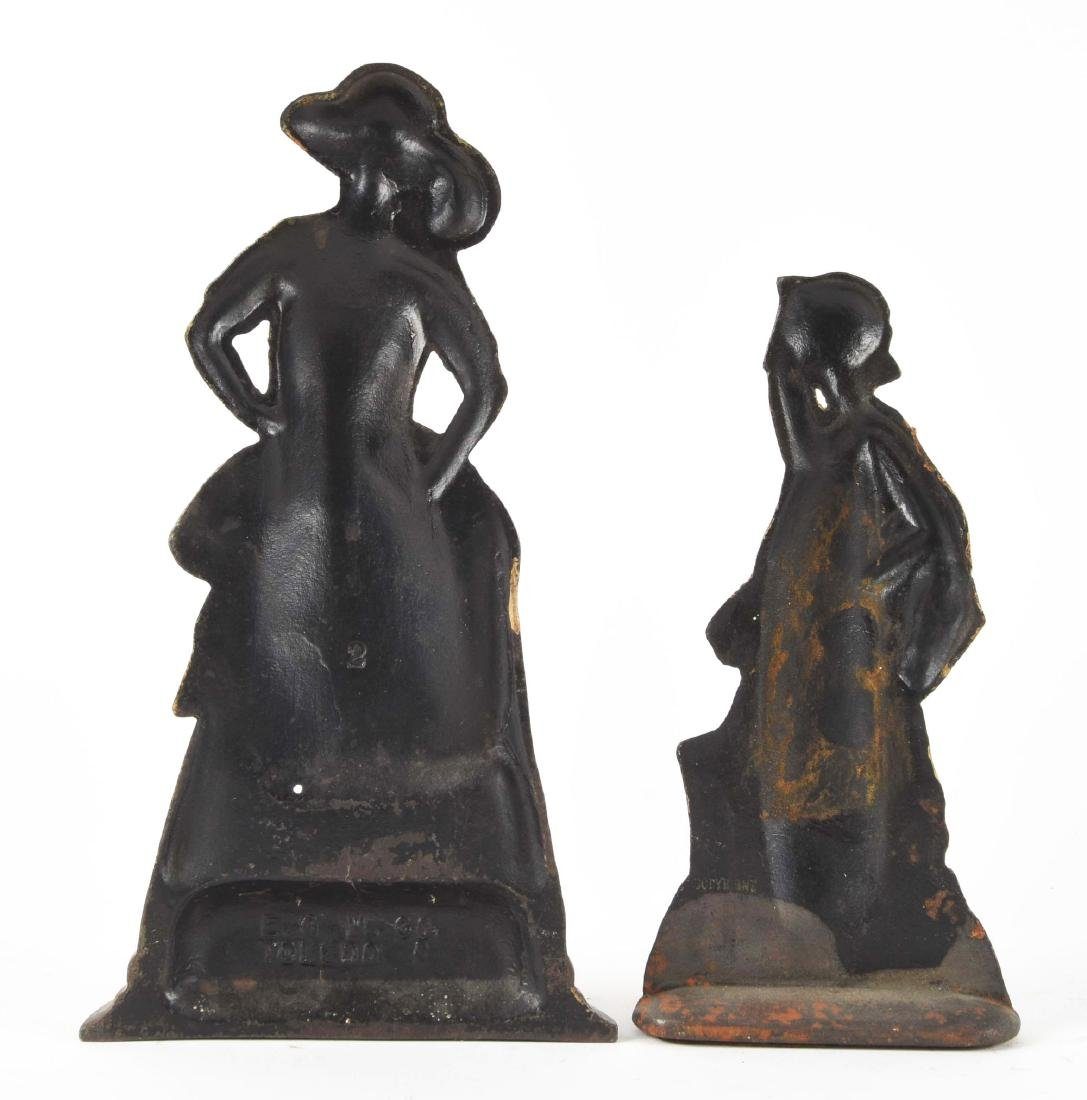 Lot Of 2: Cast Iron Figural Lady Doorstops. - 2