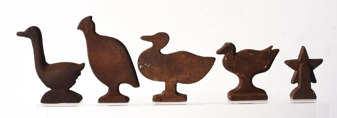 Lot of 5: Cast Iron Animal Shooting Gallery Targets. - 2