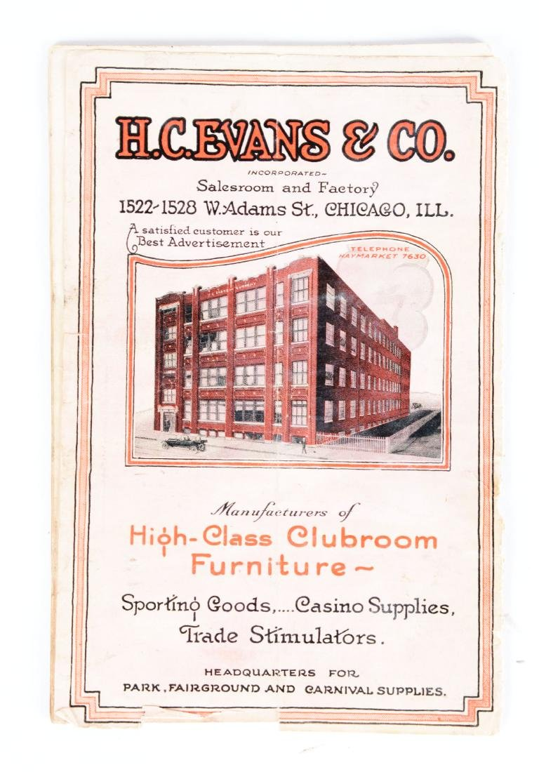 H.C. Evans & Co. Shooting Gallery Catalog. - 2