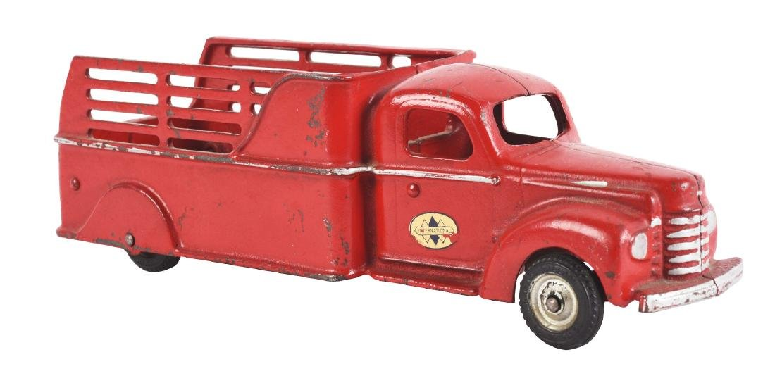 Cast Iron Arcade International Stake Truck.