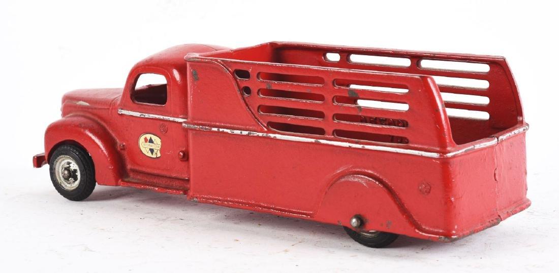 Cast Iron Arcade International Stake Truck. - 2