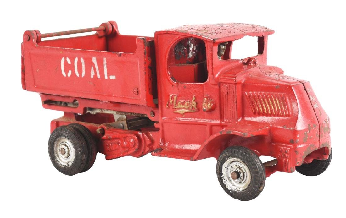 Cast Iron Arcade Mack Coal Truck.