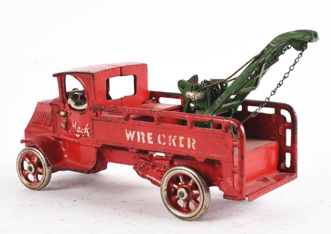 Scarce Cast Iron Arcade Mack Wrecker Truck. - 2