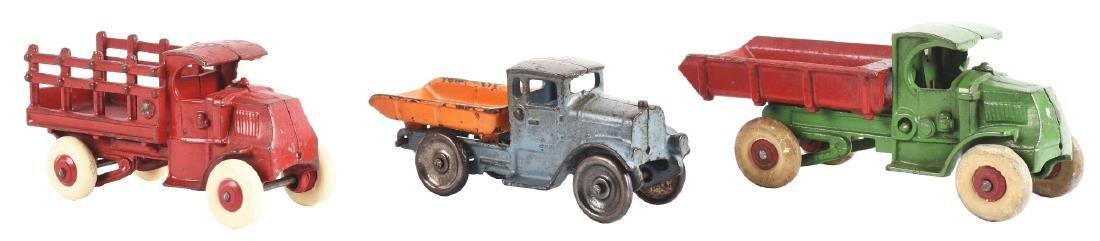 Lot Of 3: Cast Iron America Made Trucks.