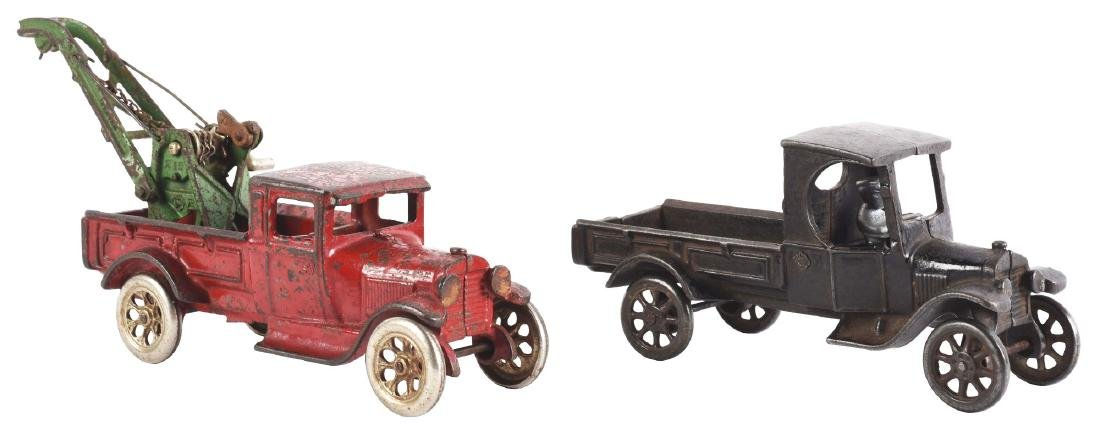 Lot Of 2: Cast Iron Arcade Toy Trucks.