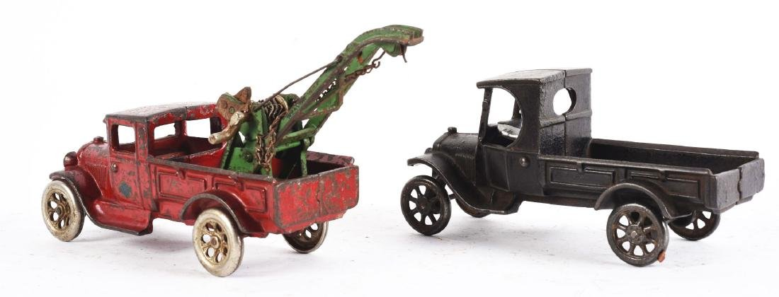 Lot Of 2: Cast Iron Arcade Toy Trucks. - 2