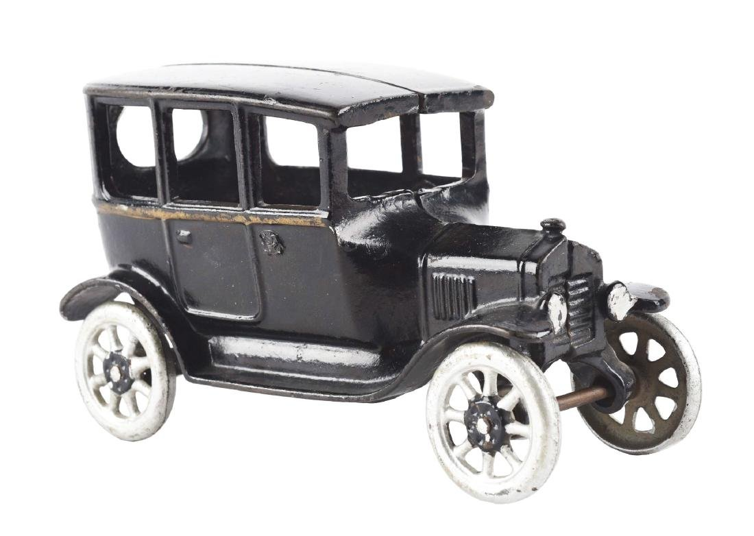 Black Cast Iron Arcade 3-Window Coupe.