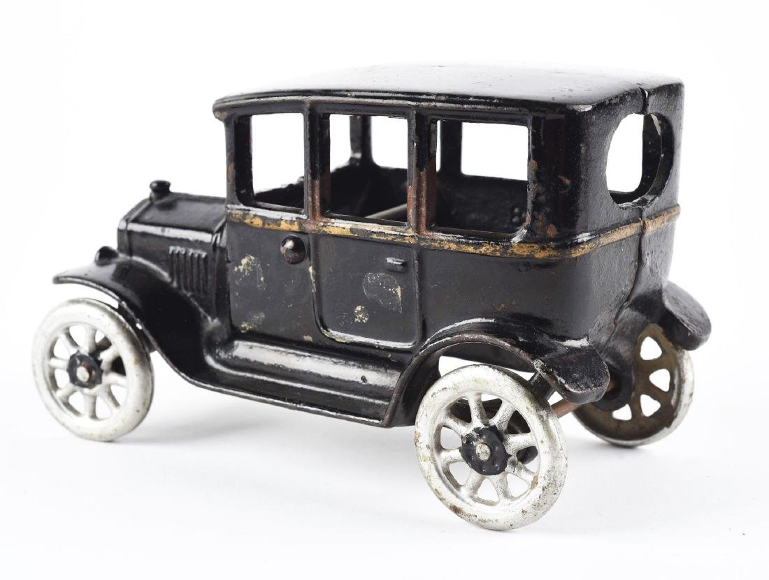 Black Cast Iron Arcade 3-Window Coupe. - 2