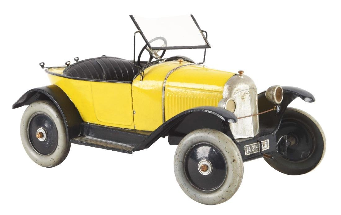 Pre-War French CIJ Citroen Boat Tail Race Car Toy.