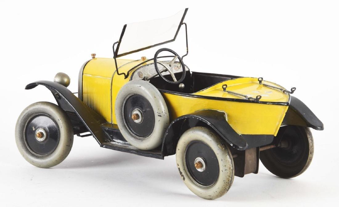 Pre-War French CIJ Citroen Boat Tail Race Car Toy. - 2