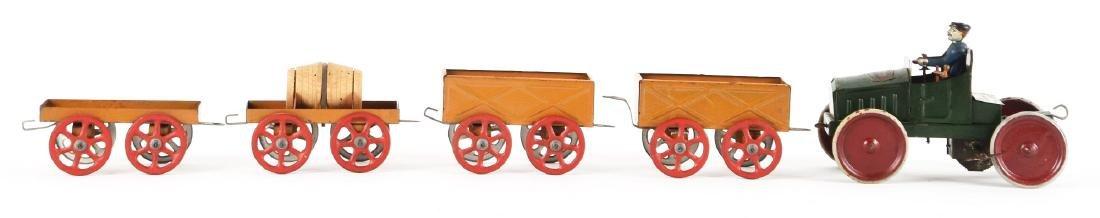 Lot Of 5: French Tin Litho Wind-Up Auto Gash Transports - 2