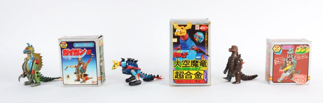 Lot Of 3: Vintage Japanese Die-Cast Monster Character