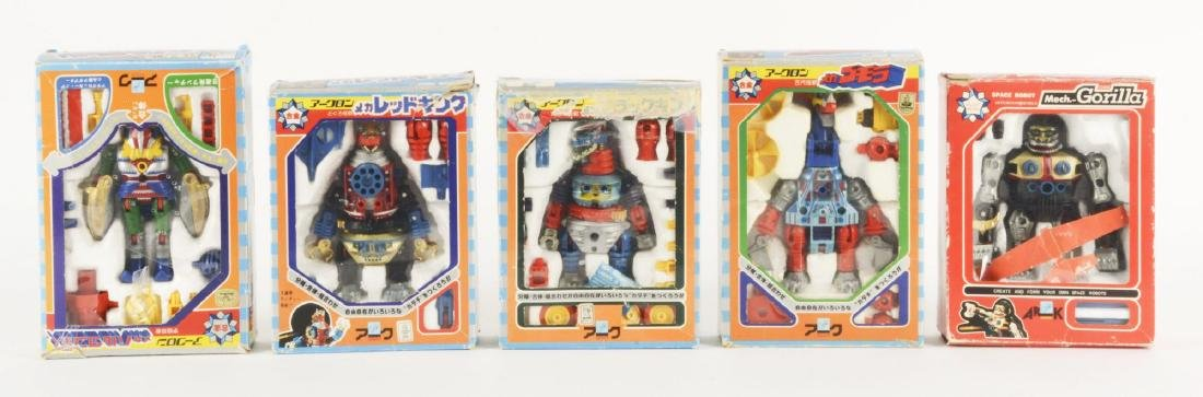 Lot Of 5: 1907's Japanese Ark Die-Cast Character Toys