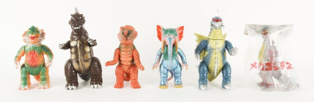 Lot Of 6: Japanese Vinyl Monster Characters.