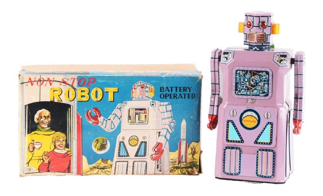 Japanese Tin Litho Gang of 5 Non Stop Robot.
