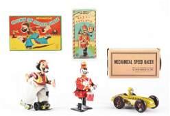 Lot of 3 Tin Litho WindUp Toys
