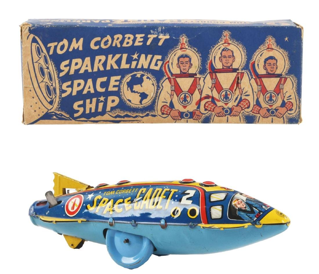 Marx Tin Litho Wind-Up Tom Corbett Space Cadet Space