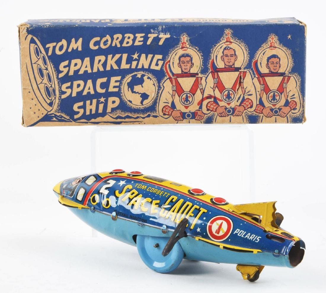 Marx Tin Litho Wind-Up Tom Corbett Space Cadet Space - 2