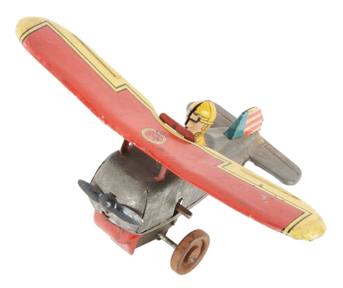 Marx Pre-War Tin Litho Wind-Up Prototype Airplane Toy.