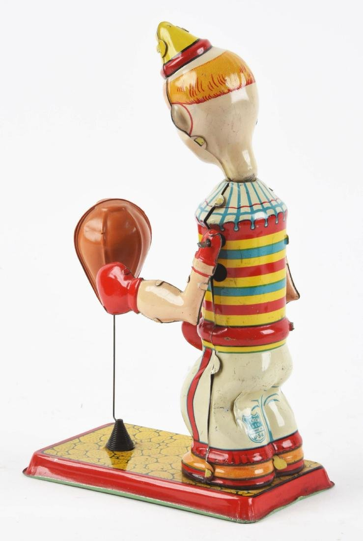 Chein Tin Litho Wind-Up Clown Puncher Toy. - 2