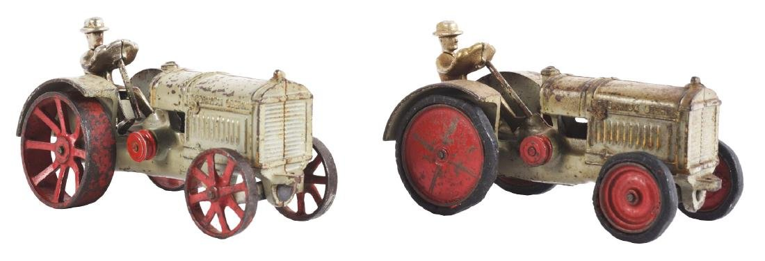 Lot Of 2: Cast Iron Arcade Toy Tractors.
