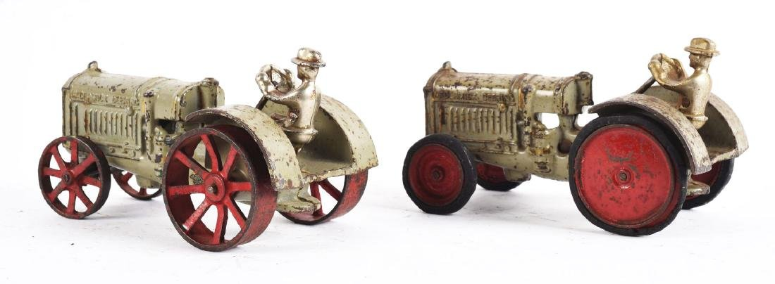 Lot Of 2: Cast Iron Arcade Toy Tractors. - 2