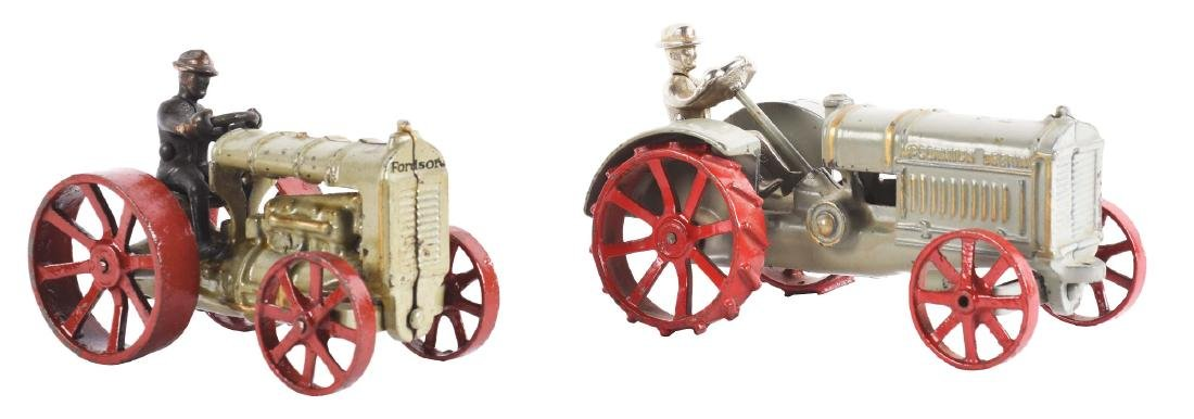Lot Of 2: Cast Iron America Made Toy Tractors.