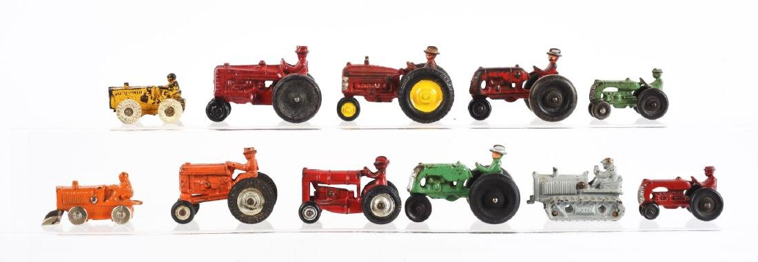 Lot Of 11: Various Cast Iron Toy Tractors & - 2