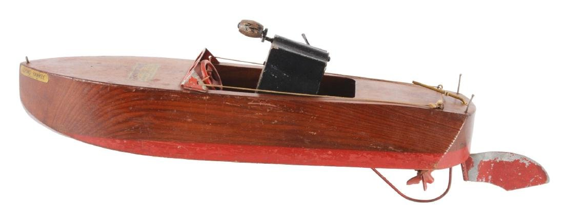 "1920's ""Flying Yankee"" Model 65 Seaworthy Motorboat Toy"