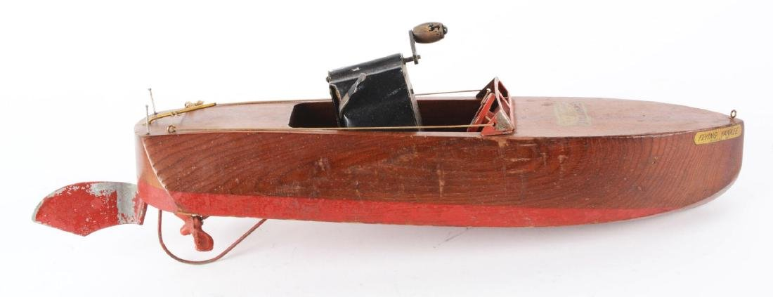"1920's ""Flying Yankee"" Model 65 Seaworthy Motorboat Toy - 2"