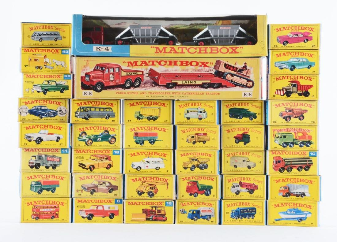 Collection Of Matchbox Vehicles, Build-a-Road,