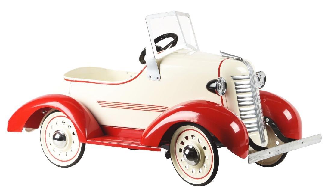American-Made Pressed Steel Pre-War Pedal Car.