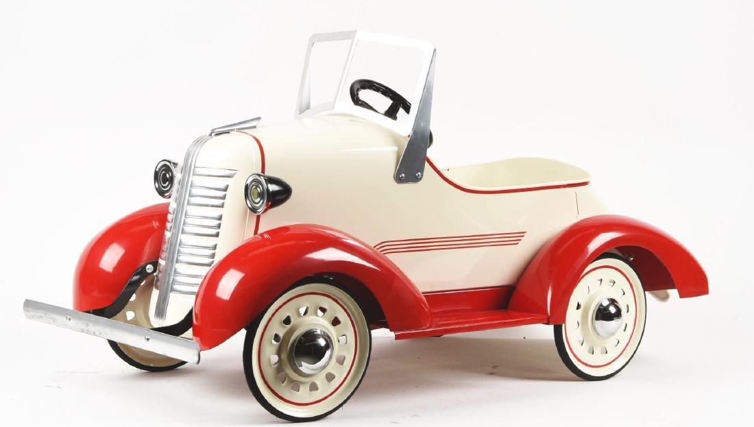 American-Made Pressed Steel Pre-War Pedal Car. - 2