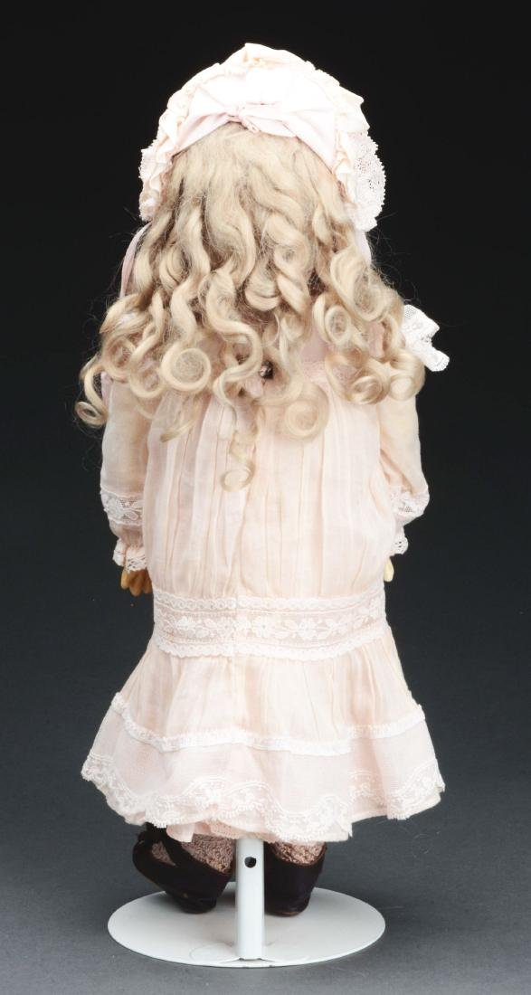 1890's French Bisque Head Walking Doll. - 3