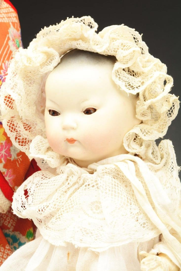 Lot of 2: Bisque Head Dolls Representing Asian - 4